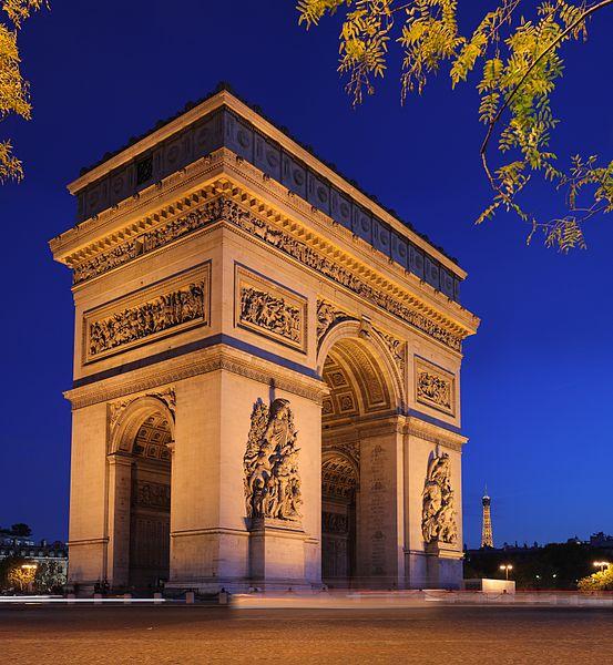 2CV Paris Tour : Visit Paris by 2CV! The Arc de Triomphe