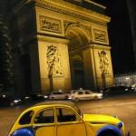 2CV Paris Tour : Visit Paris by 2CV! The Arc de Triomphe by 2CV