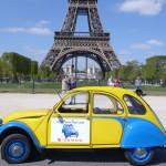2CV Paris Tour : Visit Paris by 2CV! Eglantine has some rest