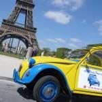 2CV Paris Tour : Visit Paris by 2CV! Eglantine and Place Jacques Rueff