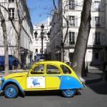2CV Paris Tour : Visit Paris by 2CV! Place Furstenberg by day