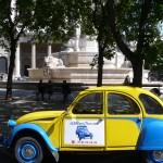 2CV Paris Tour : Visit Paris by 2CV The Church of Saint Sulpice and the fountain