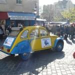 2CV Paris Tour : Visit Paris by 2CV! Driving slowly to Place du Tertre