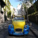 2CV Paris Tour : Visit Paris by 2CV! Leaving Montmartre