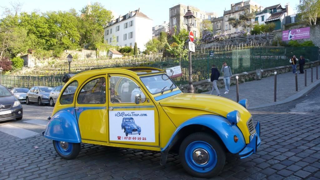 2CV Paris Tour : Visit Paris by 2CV! the Wineyards of Montmartre