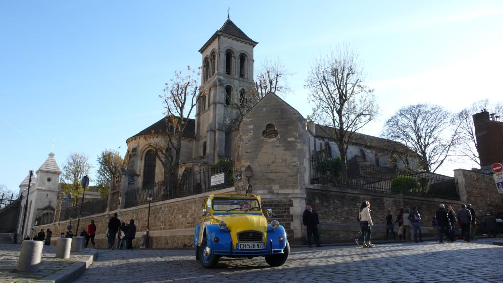 2CV Paris Tour : Visit Paris by 2CV! The Church of Saint Pierre of Montmartre