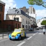 2CV Paris Tour - Visit Paris by 2CV! The 2CV in Rue des Abbesses