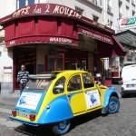 2CV Paris Tour - Visit Paris by 2CV! The café of Amélie Poulain : Les Deux Moulins