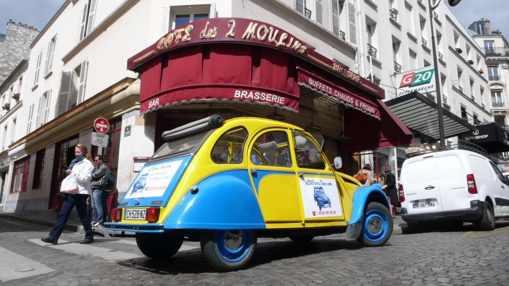 2CV Paris Tour - Visit Paris by 2CV! The Café des Deux Moulins