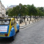 2CV Paris Tour - Visit Paris by 2CV! The Trees of Place Dauphine