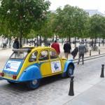 2CV Paris Tour - Visit Paris by 2CV! Direction Place Saint-Michel