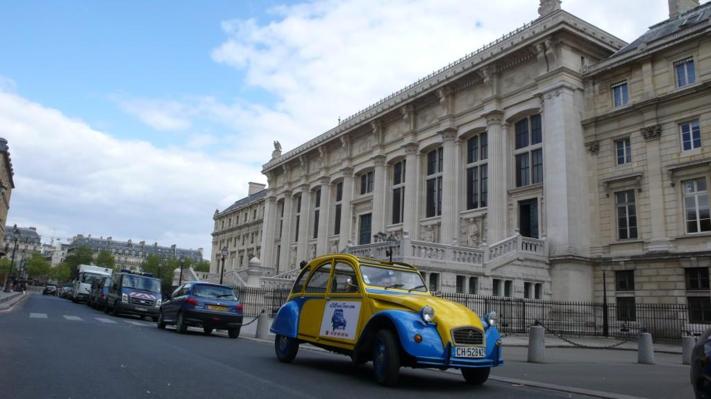 2CV Paris Tour - Visit Paris by 2CV! The back of The Palais de Justice