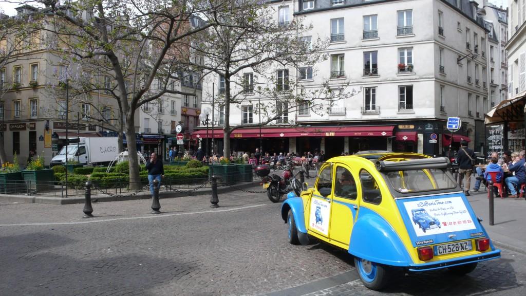 2CV Paris Tour - Visit Paris by 2CV! Place de la Contrescarpe