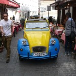 2CV Paris Tour - Visit Paris by 2CV! Leaving the Mouffetard District