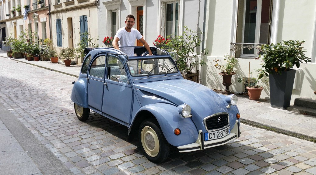 Marc and Mirabelle the 2CV car - 2CVParisTour