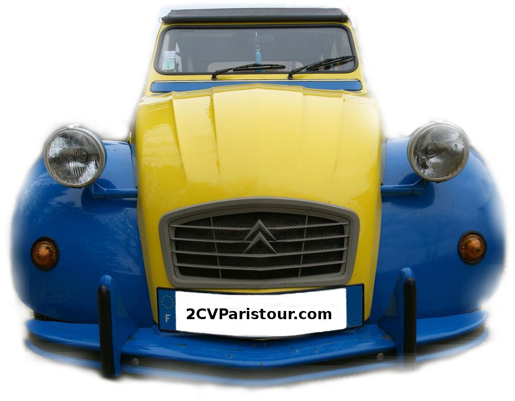 Visit Paris with the 2CV car Eglantine!