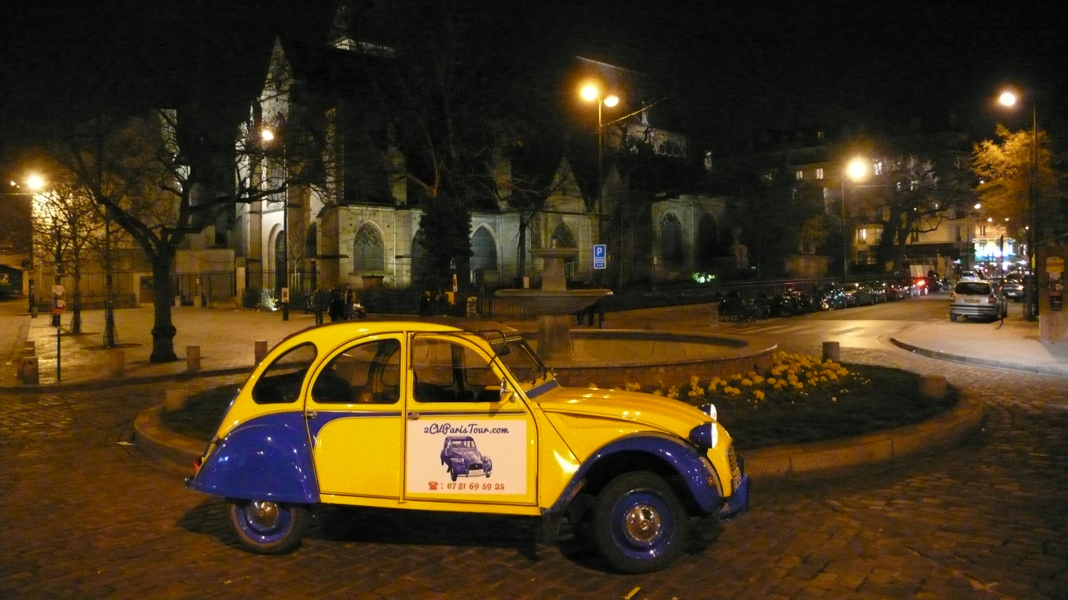 2cv paris tour visit paris by 2cv the church of saint m dard. Black Bedroom Furniture Sets. Home Design Ideas