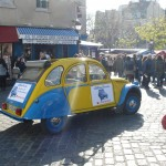 2CV Paris Tour : Visit Paris by 2CV! Driving slowly to Place du Tertre