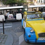 2CV Paris Tour : Visit Paris by 2CV! the 2CV and the little train of Paris