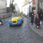 2CV Paris Tour : Visit Paris by 2CV! Heading to Place du Tertre