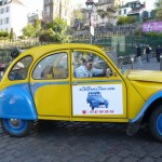 2CV Paris Tour : Visit Paris by 2CV Leaving the wineyards of Montmartre