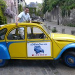 2CV Paris Tour - Visit Paris by 2CV! Eglantine has an open roof