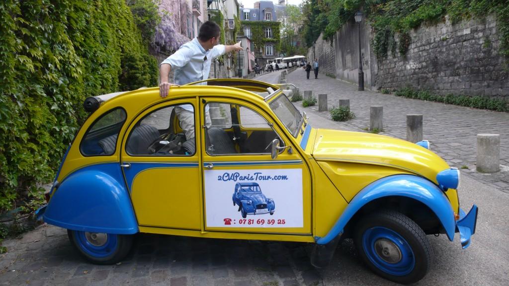 2CV Paris Tour - Visit Paris by 2CV! The little train of Montmartre