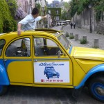 2CV Paris Tour - Visit Paris by 2CV! The little train of Montmartre