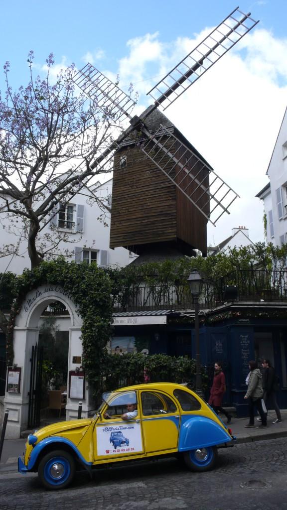 2CV Paris Tour - Visit Paris by 2CV! The Moulin de la Galette in Montmartre