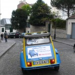 2CV Paris Tour - Visit Paris by 2CV! Heading to the Bateau Lavoir Place