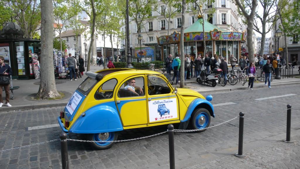 2CV Paris Tour - Visit Paris by 2CV! The Manege of Place des Abbesses