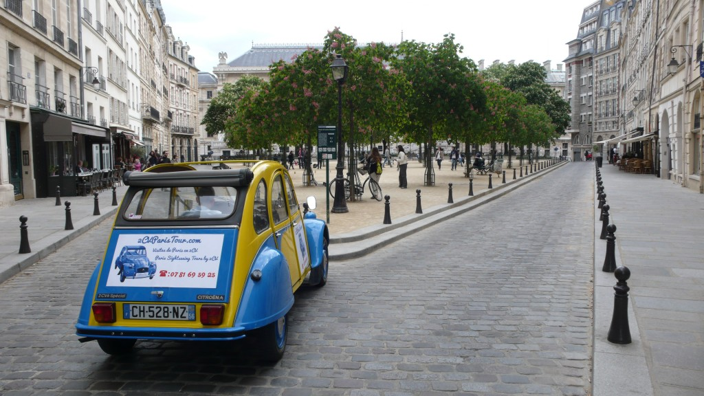 2CV Paris Tour - Visit Paris by 2CV! The Trees of Place Dauphine