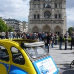 2CV Paris Tour - Visit Paris by 2CV! Notre Dame and the back of the 2CV