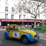 2CV Paris Tour - Visit Paris by 2CV! The Cafés of the Place de la Contrescarpe